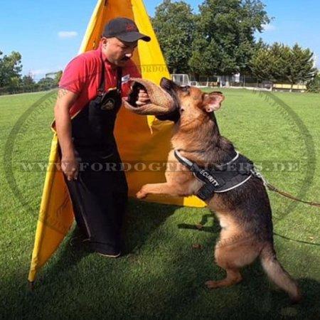 Lederschürze für Hundetrainer Schutzbekleidung