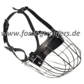Wire Cage Muzzle for large breeds buy | Wire Dog Muzzle