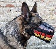 Exklusiver Hundemaulkorb für Schäferhund mit Deutscher Flagge