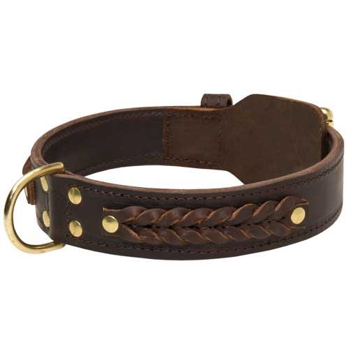 Geflochtenes Halsband Leder für Rottweiler Handarbeit - €59.9