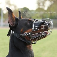 Steel Wire Basket Muzzle for Doberman Dog Breed