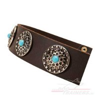 Decorated Studded Collar with Blue Stones