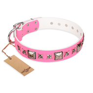 "Hundehalsband aus Pink Leder ""Lady in Pink"" FDT Artisan"