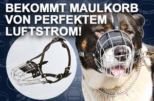 Praktischer Maulkorb aus Draht für große Hunde