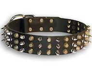Exclusive Studded Dog Collar with pyramids and spikes