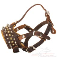 Noble Leather Dog Muzzle with Spikes buy