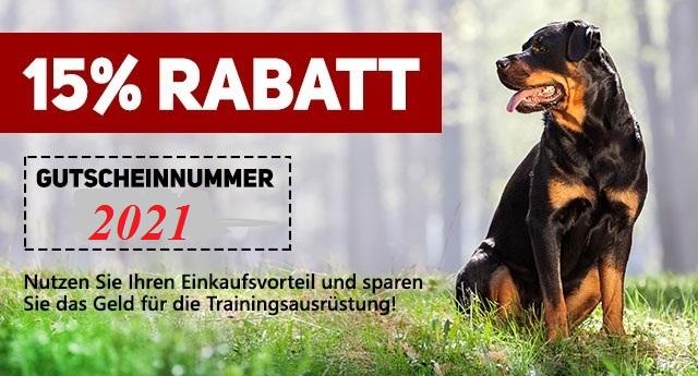 15% Rabatt auf alle Hundewaren am 20.-21.September 2018