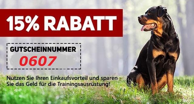 15 Rabatt auf Hundeausrüstung am 6.-7. Juli2018