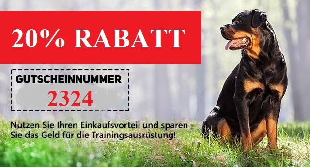 zum schwarzen Freitag 20% Rabatt auf alle Hundezubehöre
