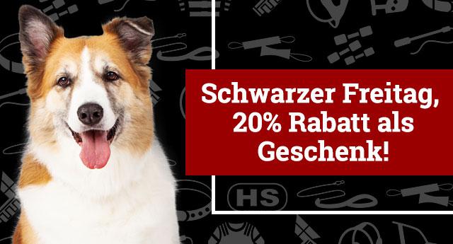 20% Rabatt zum Schwarzen Freitag für alle Hundezubehöre