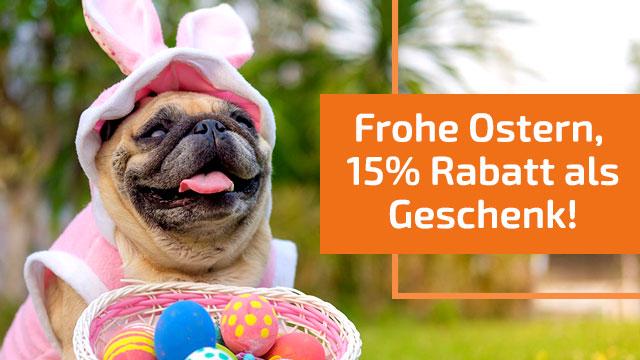Frohe Ostern mit 15% Rabatt