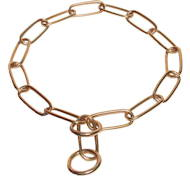 Herm Sprenger Chain Dog Collar made of Brass, polished buy