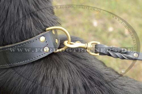 Multifunktionelle Hundeleine aus Leder mit geflochtenem Design 13 mm