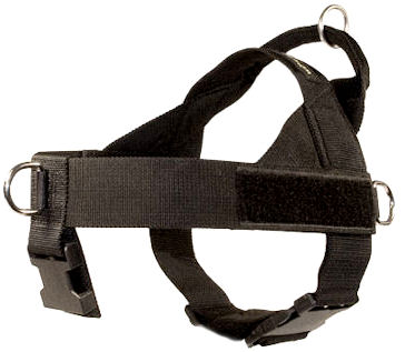 nylon dog harness without under belly strap