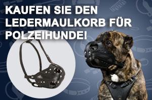 Ledermaulkorb für Diensthunde