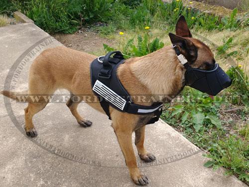 Hundemaulkor Leder mit Nylon Kombiniert mit Messing Schnellverschluss