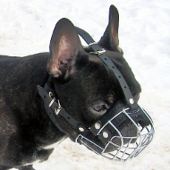 French Bulldog Wire Basket Dog Muzzle for small dog breeds