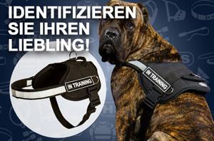 Hundegeschirr aus Nylon mit ID-Logos