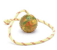 Dog Toy Ball on string - perfect 6cm
