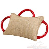 Bestseller Dog Bite Pad made of Jute with 3 handles