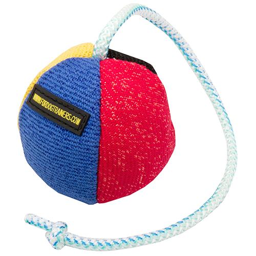 Hundespielzeug Ball aus Leinen
