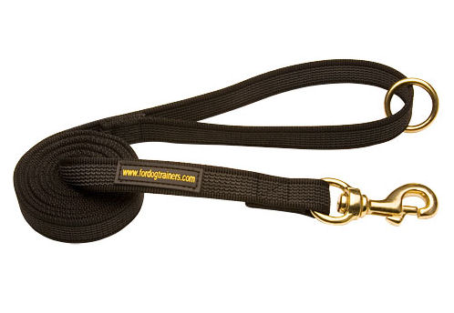 Hundeleine aus Nylon mit Messing Haken und O-Ring am Griff