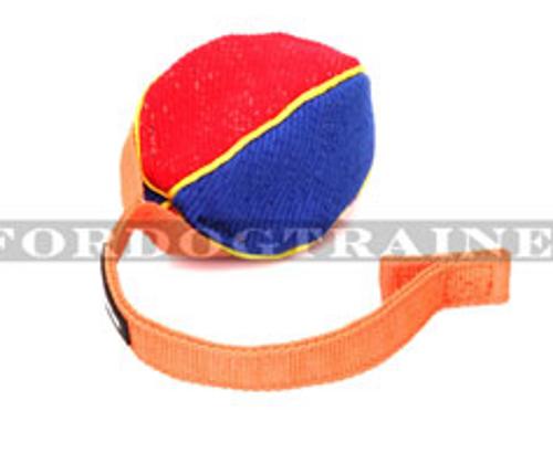 Beißkissen Ball aus French Linen an der Nylon-Schnur