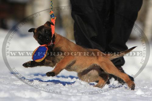French Linen Beißspielzeug am Seil für Junghunde